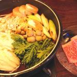 千葉、富士見町の小料理居酒屋 馬肉料理くつろぎ処 旬菜ちよで頂く、和牛すき焼 旬の食材に囲まれつつ、千葉では唯一の「凍結酒」も!